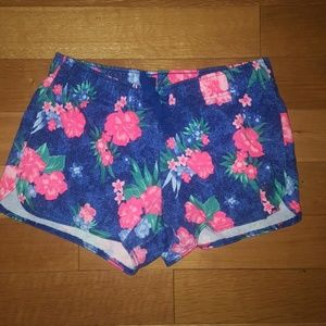 Justice Floral Cotton Shorts Size 14
